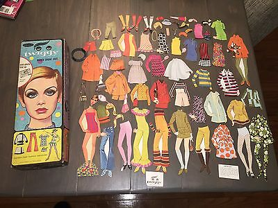"1967 ""twiggy Magic Paper Doll"" - Whitman Mod Fashion Model Icon"