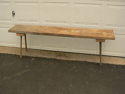 Custom Made 6 Foot long Rustic Wood Bench