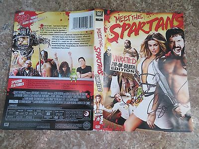 Signed Autographed DVD Cover Meet The Spartans - Carmen Electra & Sean Maguire