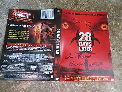 Signed Autographed DVD Cover 28 Days Later - Danny Boyle & Naomie Harris