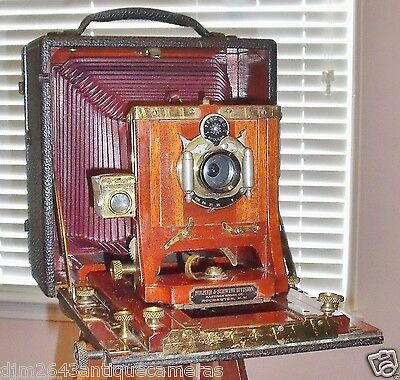 Folmer & Schwing Reversible Back/ Long Red Bellows 5x7 Historical Camera