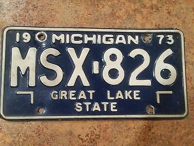 1973 Michigan License Plate