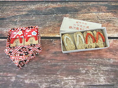 Lot 3 Pair of Vintage Japanese Platform Shoes Japan Souvenir in Original Boxes