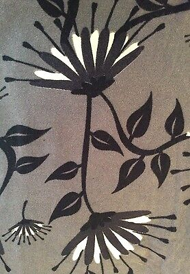 LuLaRoe OS Gray Black White Floral Leggings One Size Floral