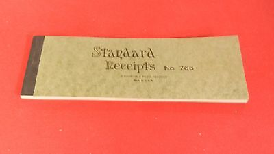 Vintage Standard Receipts Booklet Business Forms #766 UNUSED