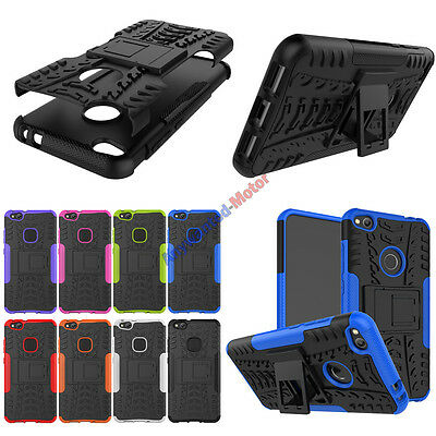 For Huawei P8 lite (2017) Case Cover Shockproof Armor Protective with Kickstand