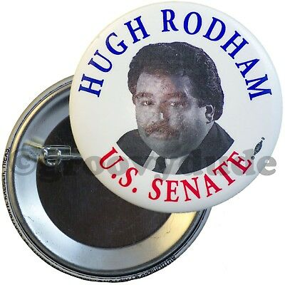 1994 Hugh Rodham Florida Hillary Brother Senate Campaign Official Pinback Button