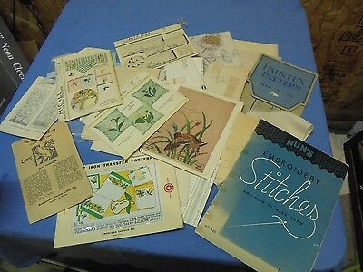 Vintage Large Lot of Transfers; Patterns; Paintex; Kaumagraph; Nuns Embroidery;