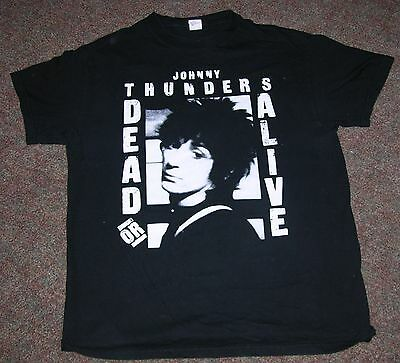 Johnny Thunders Tee-Shirt - Dead or Alive - Size Medium - New York Dolls