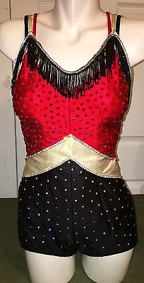 Cute Embellished Baton Twirling Ice Skating Dance Majorette Outfit