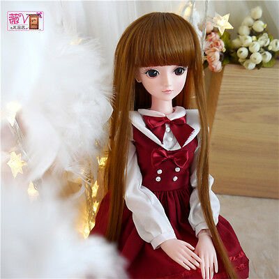 "24"" New 1/3 Handmade PVC BJD MSD Lifelike Doll Joint Dolls Baby Gift New Annie"