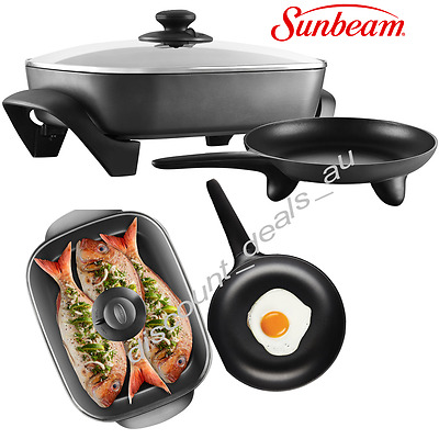 Sunbeam Banquet Frypan & Skillet Large Electric Family Frypan Non Stick Cooking