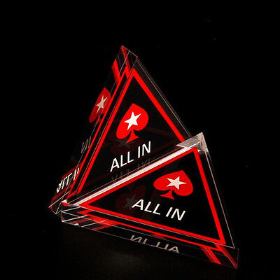 All In Button Triangle Acrylic All In Button Texas Hold'em PokerStars