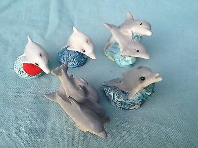 Stone Critters Lot Littles Usa Dolphin Bottlenose Baby Scl 145 221 297 195 324