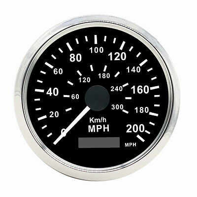 NEW 85mm Stainless GPS Speedometer Gauge 200MPH/300KMH Waterproof for Car Truck