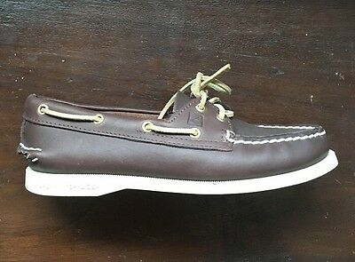 Sperry Top-Sider Brown Leather Boat Shoes Women's Size 6.5 #14416 ( Used Once)