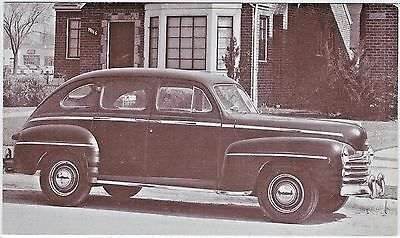 1948 Ford DeLuxe 4-Dr SEDAN Original NOS Vintage DEALER SUPPLY Promo Ad Postcard