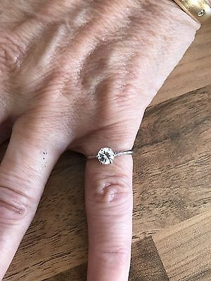 9ct white gold ring White Sapphire Solitaire