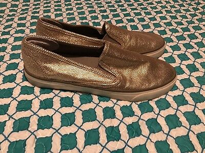 Sperry Topsider Size 8 Women's Slip On Boat Canvas