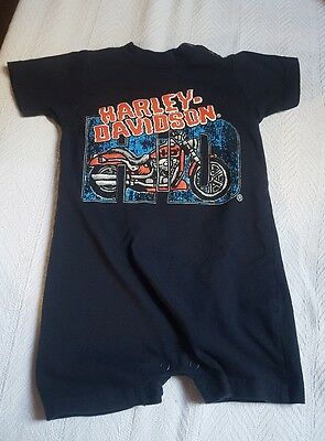 Harley davidson motorcycles 24m one pc Born to ride blue outfit • pre-owned
