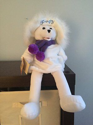 NWT Chantilly Lane Singing Connie Talbot Bear - Frosty The Snowman
