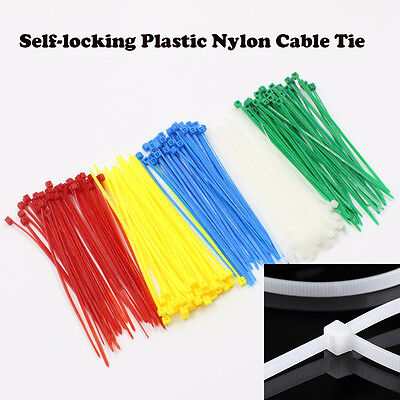 100 Pcs/Sac 12 Couleurs 3*150MM Attaches de Câble en Nylon Autobloquants Mode