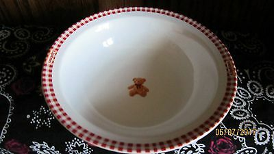 Adorable ~ Lipton Gund Teddy Bear Ceramic Cereal/Soup Bowl ~ New