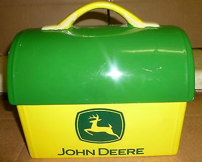 John Deere*lunch box-cookie jar*made by Gibson*Ceramic*Original*FAST SHIPPING*NR