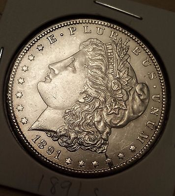 1891 S Morgan Silver Dollar! WOW! You grade! Great Details! Free Shipping!