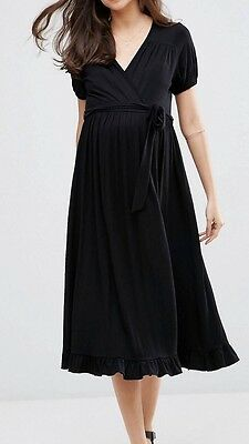 ASOS Black Maternity Dress Size 10
