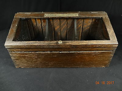 Nice Oak Camel Hair Glass Country Store Display Case Or Showcase