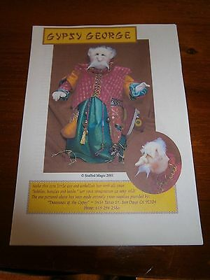 2 cloth doll patterns, Carol Saunders and Stuffed Magic