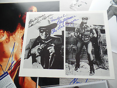 "CLAYTON MOORE autograph THE LONE RANGER ""to Michael"" Photo HAND SIGNED auto"