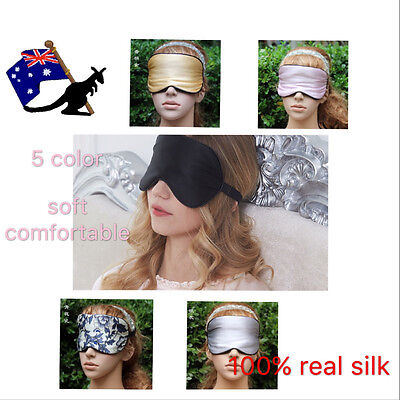 Sleeping EyeMask 100%Real Silk TRAVEL Sleep Shade Soft Cover Relax Blindfold Aid