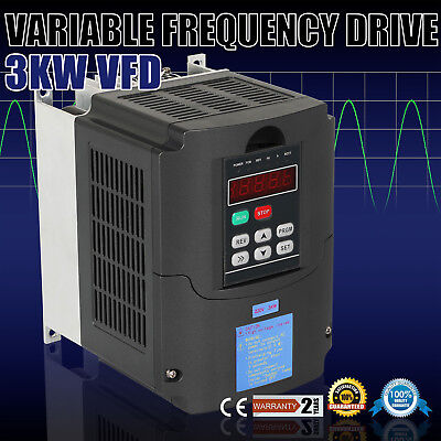 4Hp 3Kw Vfd Drive Inverter Closed-Loop Avr Technique Load Capability Excellent