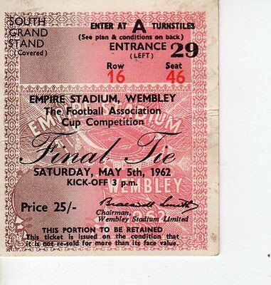 Used Ticket - Tottenham v Burnley 5.5.1962