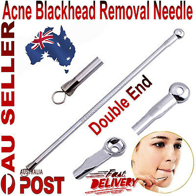 Non Slip Stainless Blemish Pimple Popper Acne Blackhead Removal Needle Tools