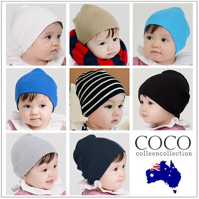 Kids Baby Cotton Beanie Soft Girl Boy Knit Hat Toddler Infant Kid Cap OZ