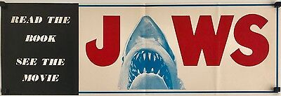 Jaws Original 1975 Book & Movie Banner/Flyer