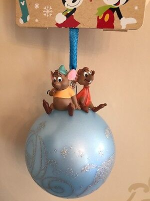 Disney Jaq & Gus Christmas Ornament Decoration Bauble Cinderella Sketchbook