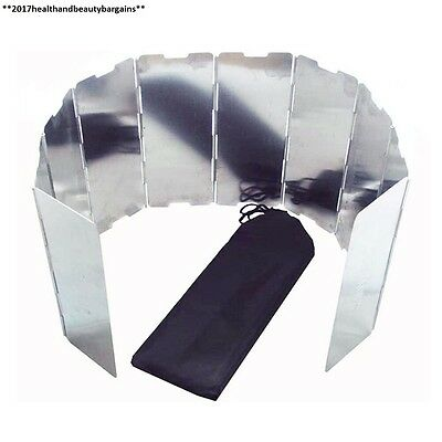 10 Plates Foldable Outdoor Camping Cooker Gas Picnic Stove Wind Shield...