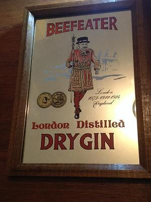 BeefEater London Dry Gin Advertising Mirror Made in England