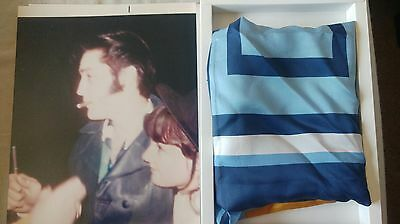 Elvis Presley personal and worn off stage scarf from November 1968