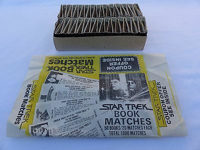 New 1000 matches 50 books Star Trek Matches + Vintage Coupon Offer + Packaging