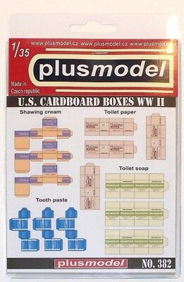 Plus Model 1:35 US Boxes WWII Paper Diorama Accessory #382