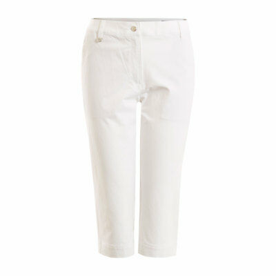 Calvin Klein Ladies Long Shorts with Flattering, Straight Fit in White