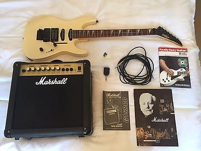 Vintage V6 Electric Guitar And Marshall Amp