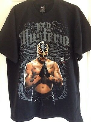 "New With Tags WWE Wrestling Rey Mysterio ""619"" Black T-Shirt - Extra Large"