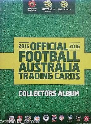 2015-2016  Tap N Play A-League Trading Card Collectors Album With Sleeves
