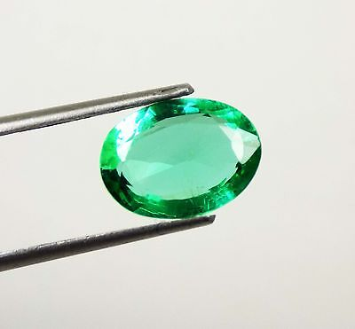 4.80 Ct Natural Certified Oval Cut Beautiful Colombian Green Emerald Gemstone